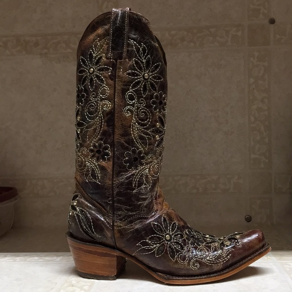 shop for newest diversified in packaging unequal in performance Brown Cowgirl Boots With Sparkles (Seven Stars)